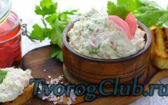 Рецепт творожной пасты с чесноком и зеленью