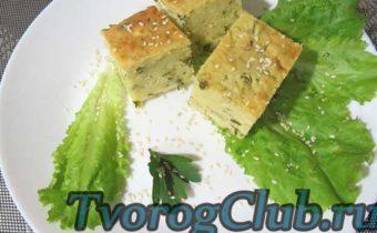 ПОшаговый рецепт приготовления несладкой запеканки из творога и зелени