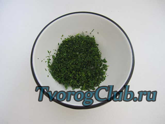 Мелконарубленная зелень