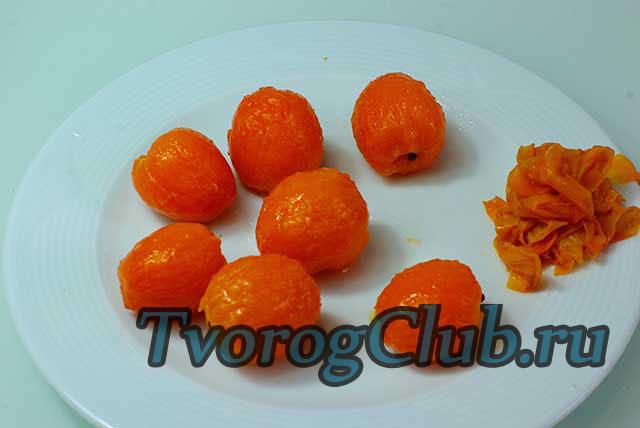 Очищаем абрикосы от шкурки