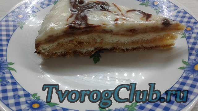 Творожный торт-пирог