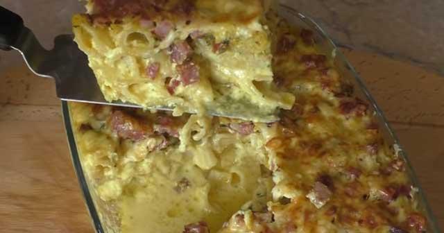 Запеканка из макарон с творогом - 9 пошаговых фото в рецепте